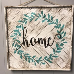 "Other - Wooden ""Home"" sign"